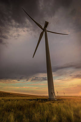 Photograph - Palouse Windmill At Sunrise by Chris McKenna