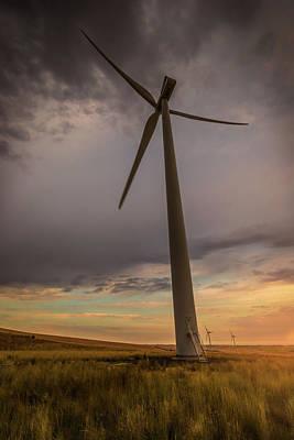 Photograph - Palouse Windmill At Sunrise by Chris McKenna