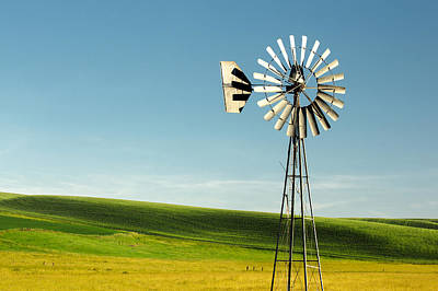Ranching Photograph - Palouse Windmill by Todd Klassy