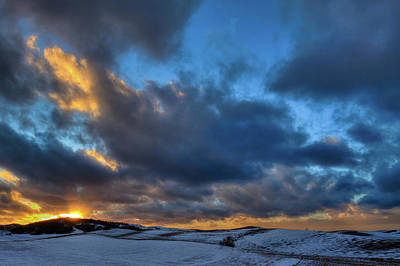 Photograph - Palouse Winter Sunset by David Patterson