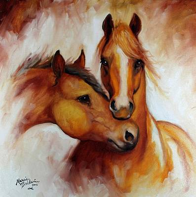 Earth Tones Painting - Pals by Marcia Baldwin