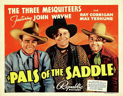 Mixed Media - Pals Of The Saddle 1938 by Republic
