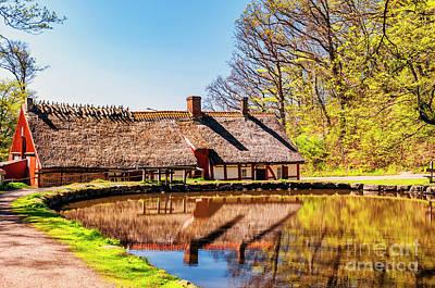Country Cottage Photograph - Palsjo Woods Lakehouse by Antony McAulay