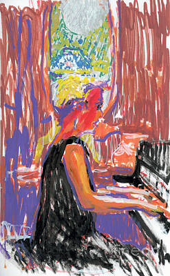 Painting - Pam Heinemann At The Piano by Candace Lovely
