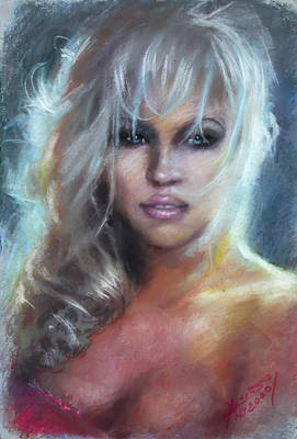 Actress Wall Art - Pastel - Pamela Anderson by Ylli Haruni