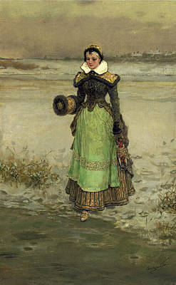 Painting - Pamela by George Henry Boughton