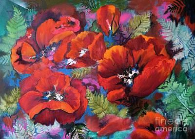 Painting - Pamela's Poppies by Pamela Shearer