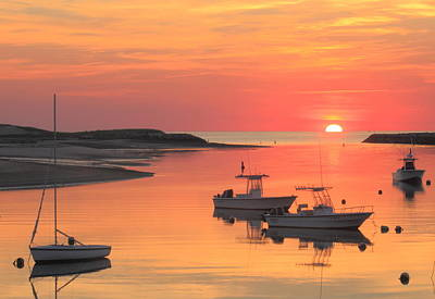 Pamet Harbor Cape Cod Truro Sunset Art Print