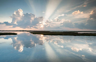 Pamlico Sound Obx Cape Hatteras National Seashore Art Print by Mark VanDyke