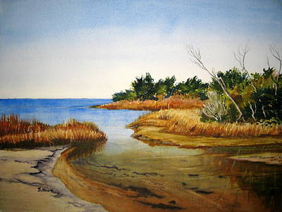 North Sea Painting - Pamlico Sound Serenity by Shirley Braithwaite Hunt
