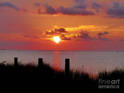 Photograph - Pamlico Sound Sunset by Jean Wright