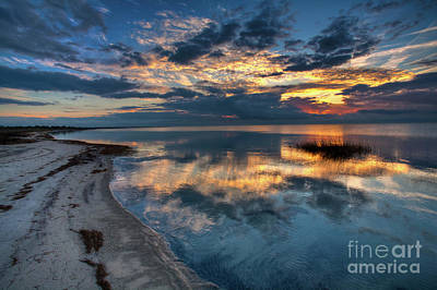 Photograph - Pamlico Sound Sunset On The Outer Banks by Dan Carmichael