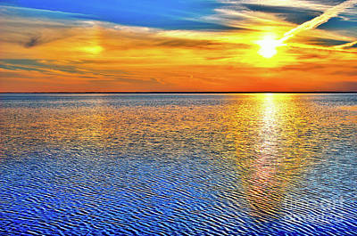 Photograph - Pamlico Sound Sunset Outer Banks by Dan Carmichael