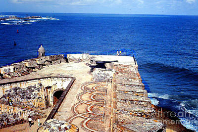 Photograph - Pamparts Of Morro Fortress - Puerto Rico by Merton Allen