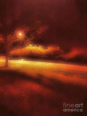 Gas Lamp Photograph - Pamplico Park by Jenny Revitz Soper