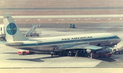 Pan Am 707-321 At Los Angeles International Airport Art Print