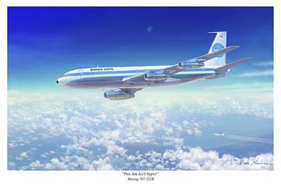 Pan Am Jet Clipper Art Print