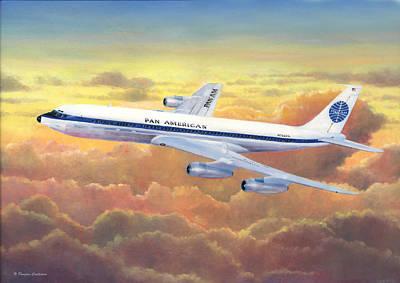 Painting - Pan American 707 by Douglas Castleman