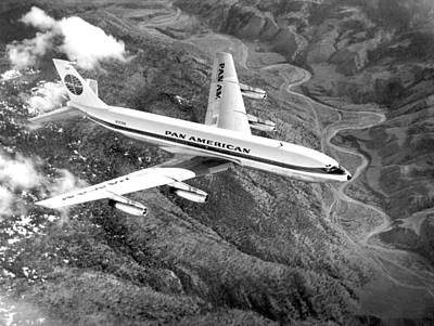 Airlines Photograph - Pan American Airways, Boeing 707-121 by Everett
