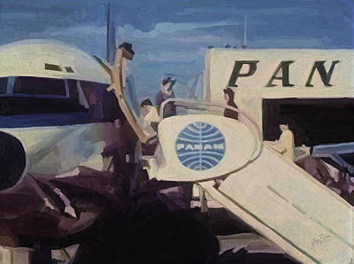 Panam Painting - Pan American Airways Boeing 707 by Nop Briex