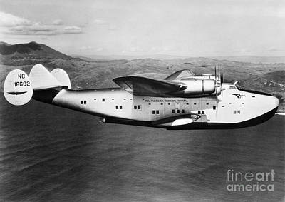 Passenger Plane Photograph - Pan American Clipper by H. Armstrong Roberts/ClassicStock