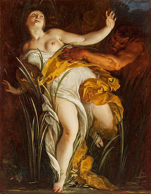 Painting - Pan And Syrinx by Louis Dorigny
