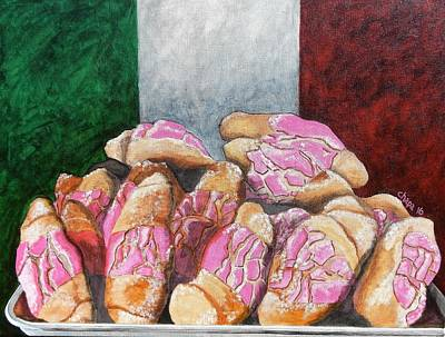 Painting - Pan De Cinco by Manny Chapa