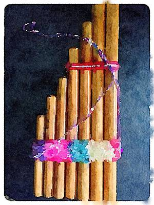 Digital Art - Pan Flute by Shannon Grissom