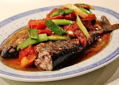 Photograph - Pan Fried Mackerel With Tomatoes by Katy Mei