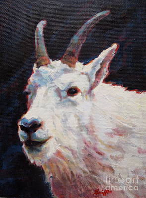 Mountain Goat Art Painting - PAN by Patricia A Griffin
