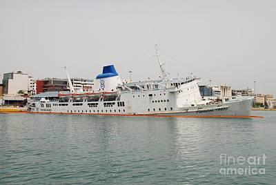 Panagia Tinou Ferry Sinking In Athens Art Print