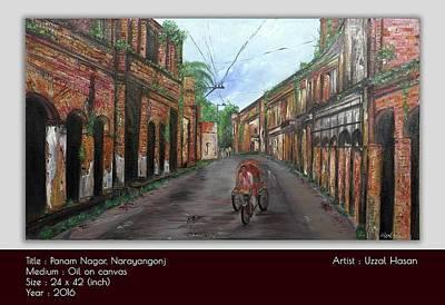 Kashinath Painting - Panam Nagor by Uzzal Hasan
