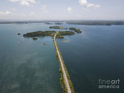 Aerial View Photograph - Panama Canal by Dani Prints and Images