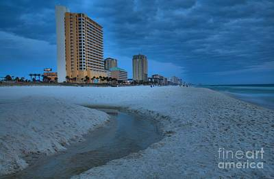 Photograph - Panama City Beach At Dusk by Adam Jewell