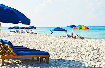 Panama City Beach Photograph - Panama City Beach Florida With Beach Chairs And Umbrellas by Vizual Studio