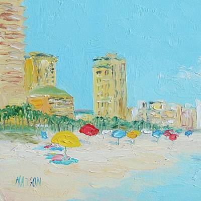 Abstract Beach Painting - Panama City Beach Painting by Jan Matson