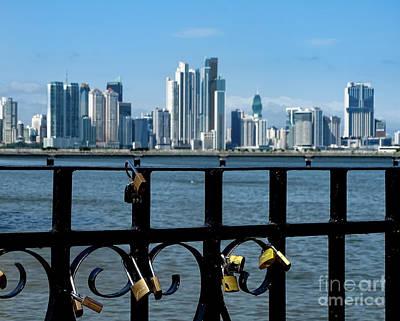 Photograph - Panama City Love Locks 2 by Camille Pascoe