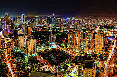 Photograph - Panama City Night Lights by Diana Raquel Sainz