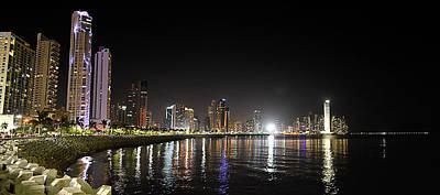 Panama City Night Art Print