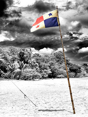 Photograph - Panama Flag At Red Frog Beach by John Rizzuto