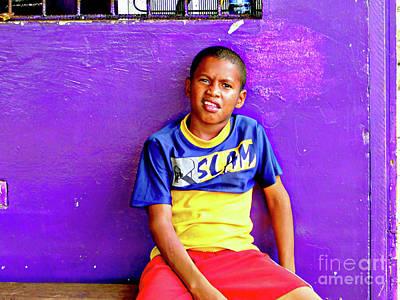 Photograph - Panama Kids 967 by Al Bourassa