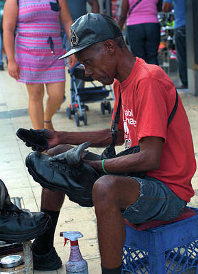 Photograph - Panama Shoe Shine by Douglas Pike