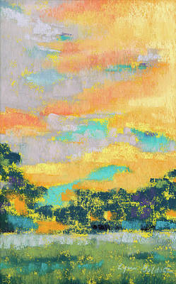 Pastel - Panama Skies #4 by Lynn Goldstein