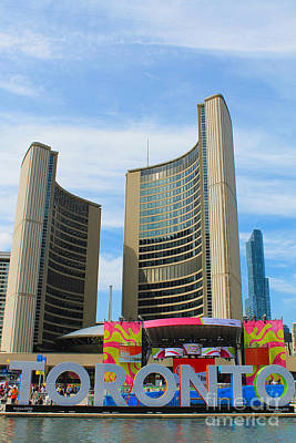 Photograph - Panamania 2015 At Toronto City Hall by Nina Silver