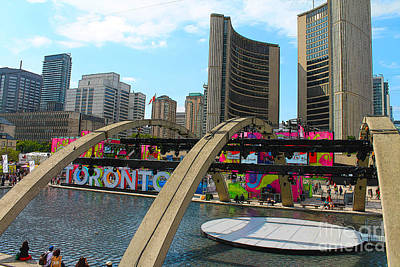 Photograph - Panamania In Nathan Phillips Square Toronto by Nina Silver