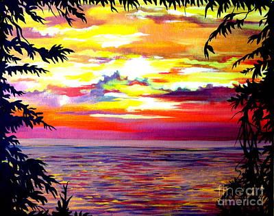 Panama.pacific Sunrise Art Print by Anna  Duyunova