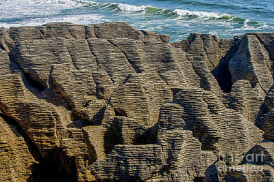 Photograph - Pancake Rocks At Punakaiki On Westcoast Of New Zealand by Patricia Hofmeester
