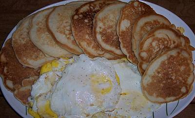 Jessica Sanders Photograph - Pancakes And Eggs by Jessica Sanders