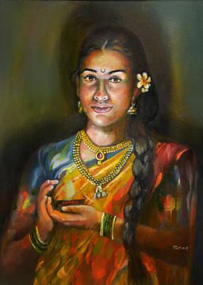 Painting - Panchali by Parag Pendharkar