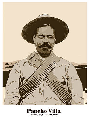 Art Print featuring the digital art Pancho Villa by Antonio Romero